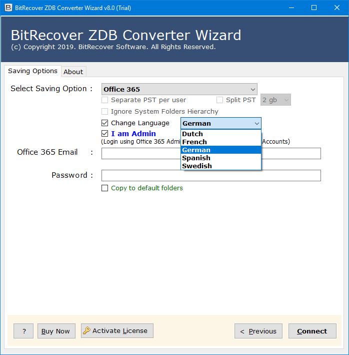 zdb to exchange online