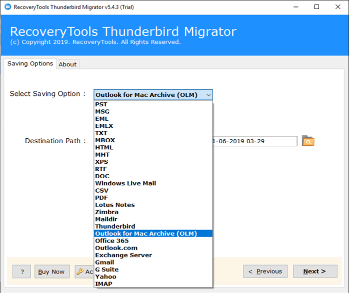 Thunderbird to OLM Converter | Best way to Transfer Thunderbird to