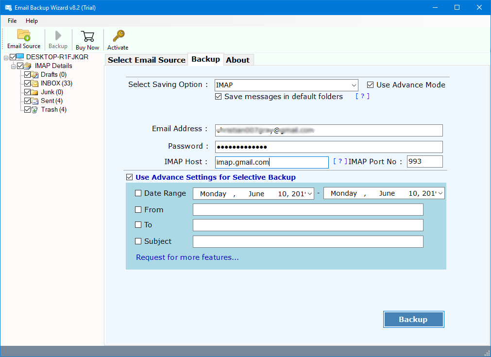 how to transfer email accounts from one server to another