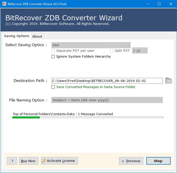 zdb to pdf converter