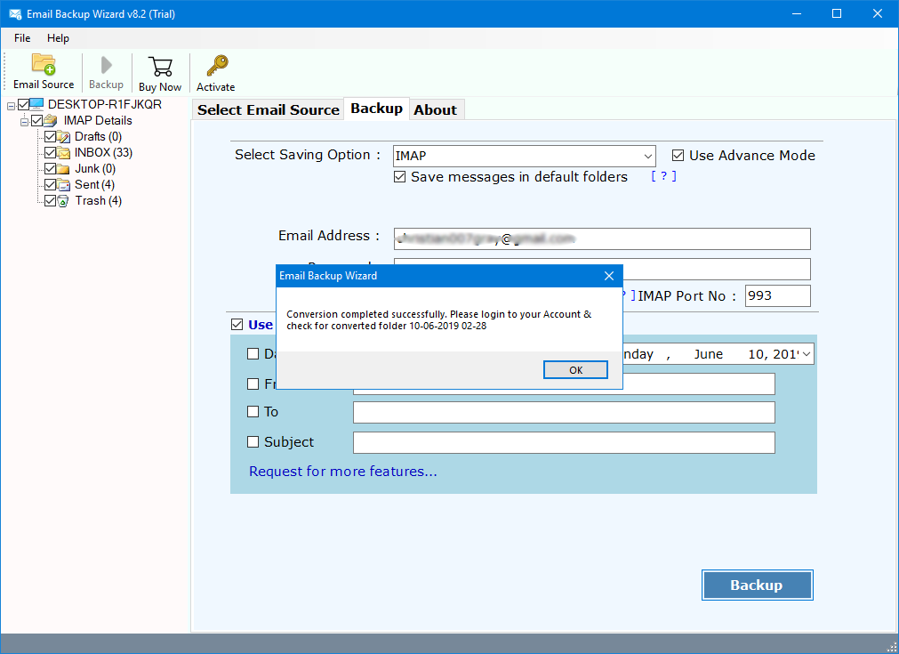 how to forward emails from one account to another