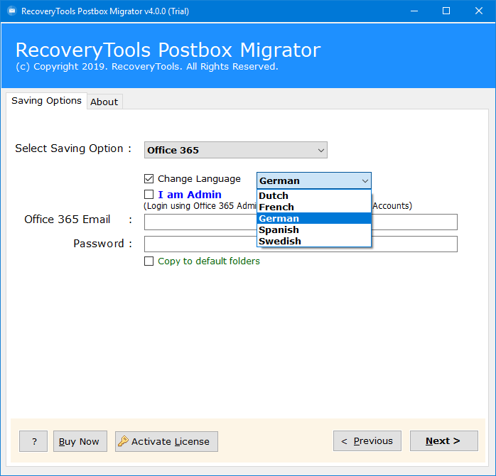migrate postbox to office 365