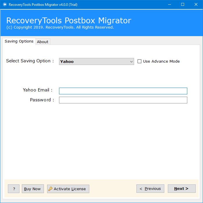 migrate postbox to yahoo mail
