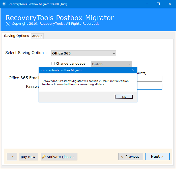 postbox email to office 365