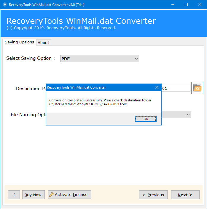 convert winmail.dat to pdf
