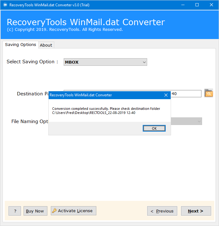 winmail.dat file to mbox converter