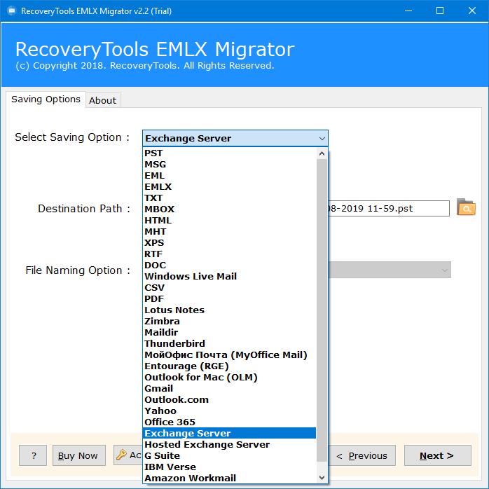 import eml files to exchange
