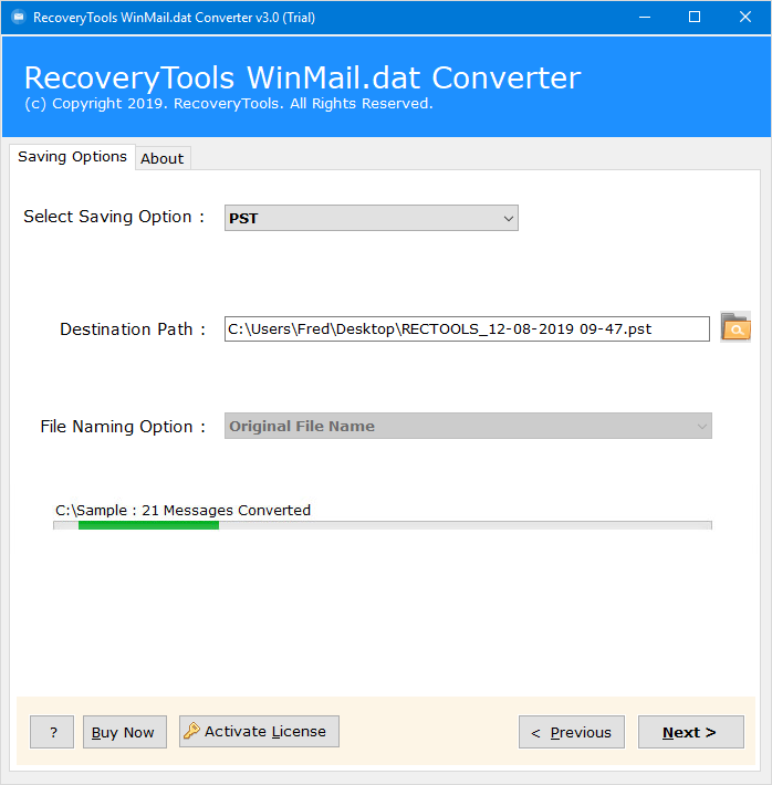 export winmail to outlook