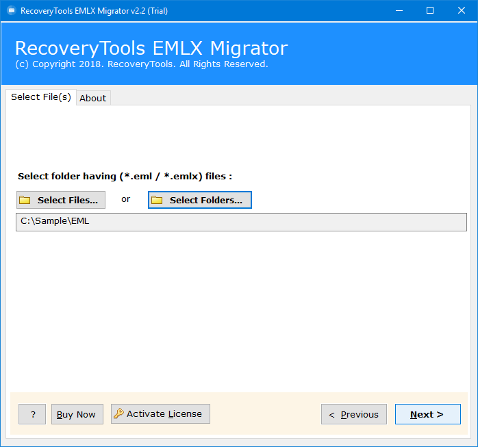 import eml to yahoo mail