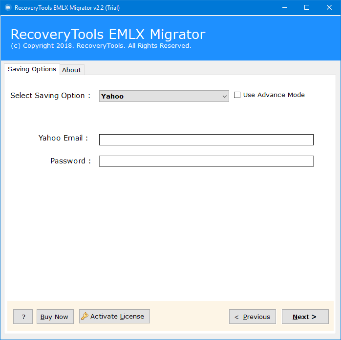 migrate email to yahoo
