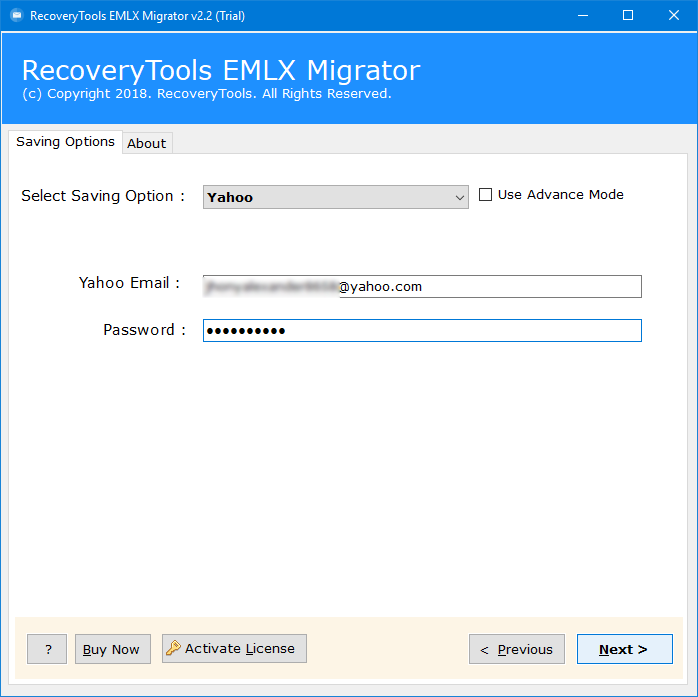 how to open eml file in yahoo account