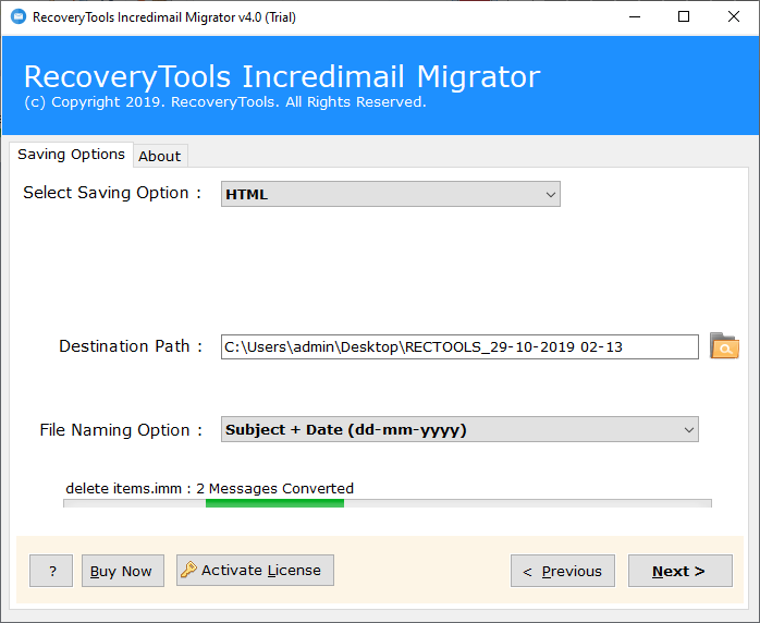 IncrediMail to html Migration