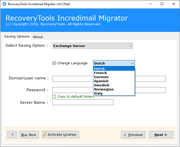 IncrediMail to Exchange migration