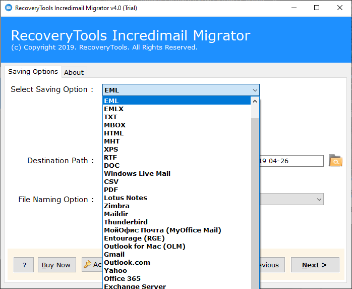 convert incredimail file to eml