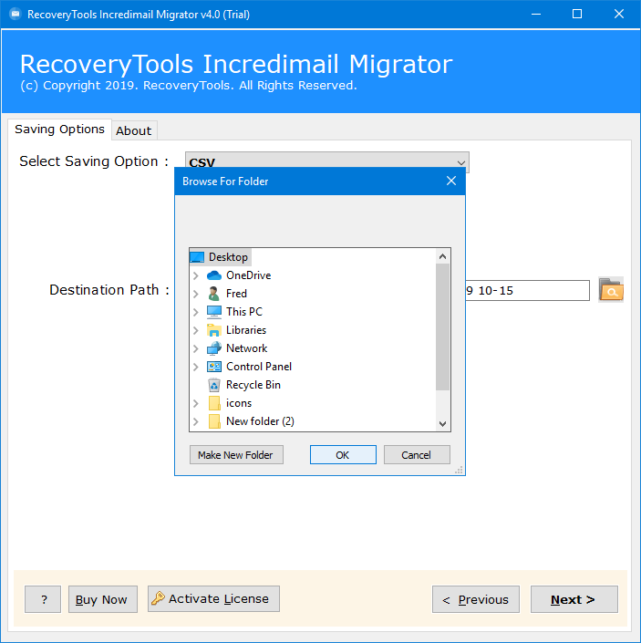 incredimail export contacts