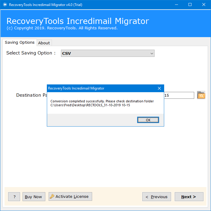 recover incredimail contacts