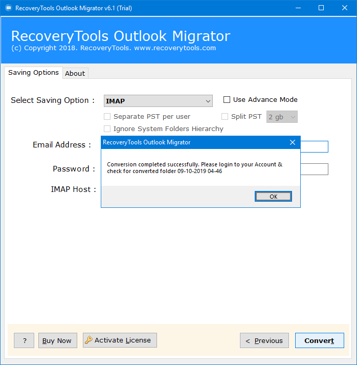 outlook email to mdaemon