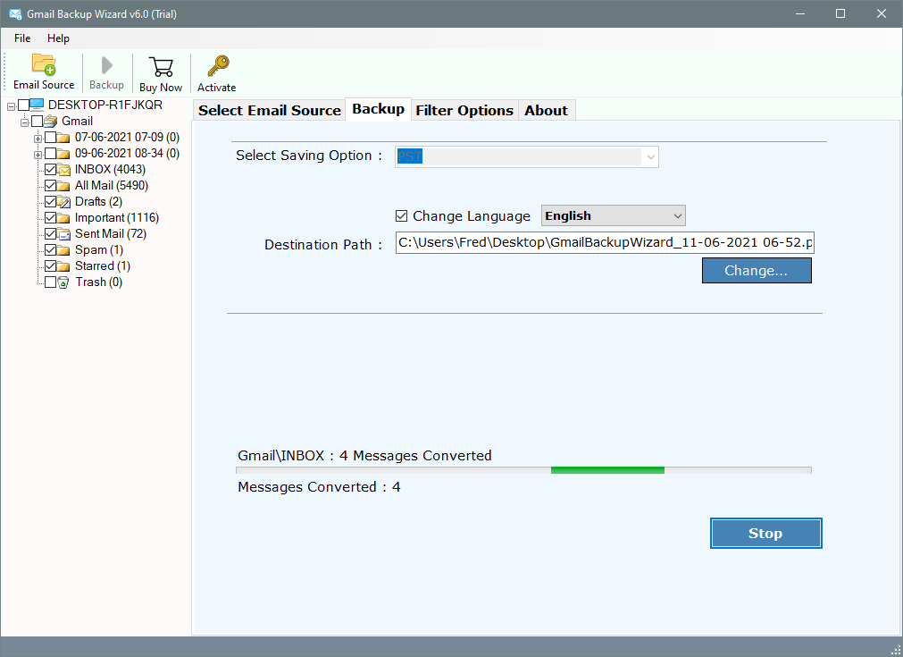 migrate gmail to outlook