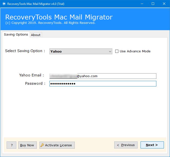 mac mail to yahoo