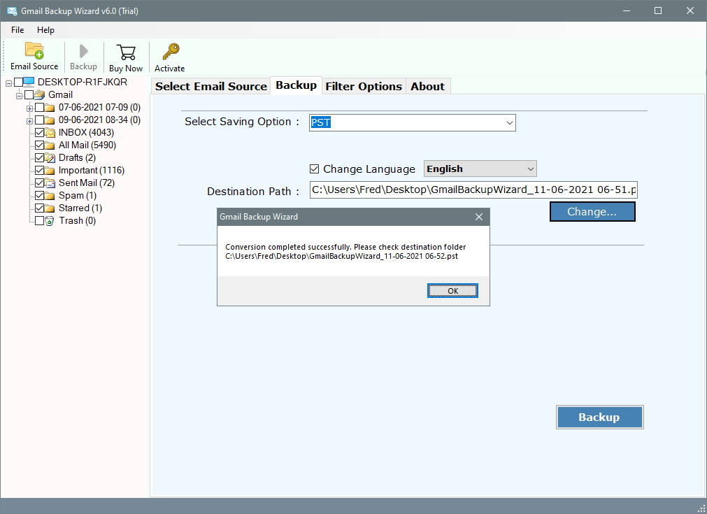 export google mail to outlook