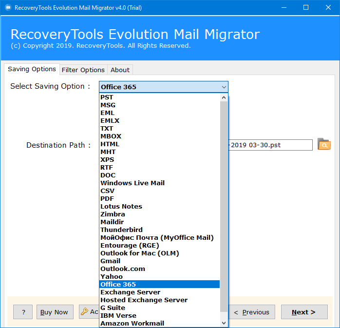 evolution to office 365