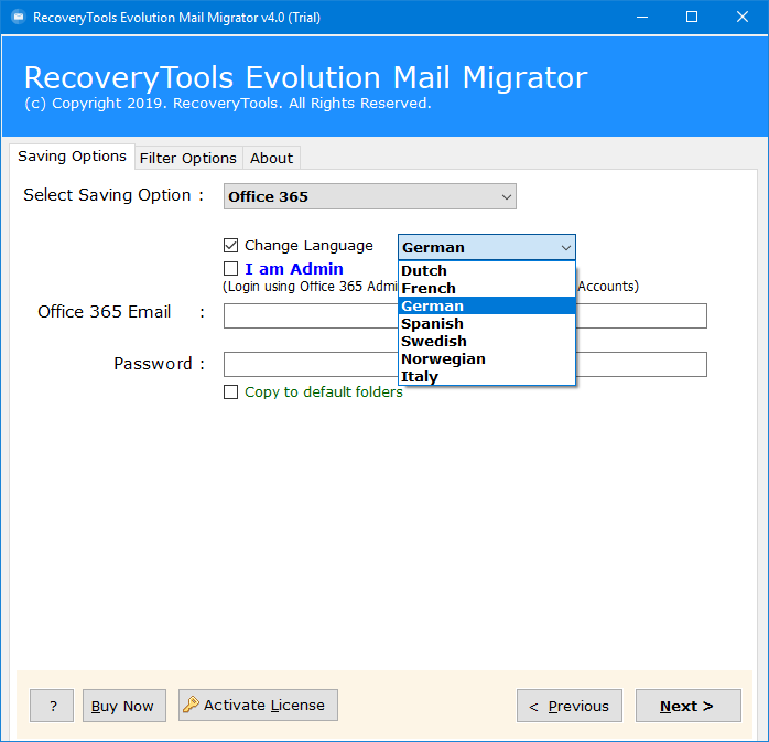 connect evolution to office 365