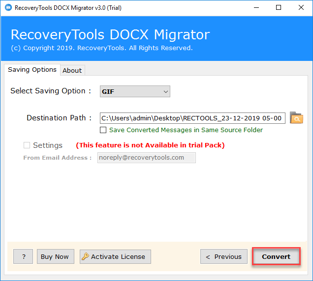 convert DOCX to GIF