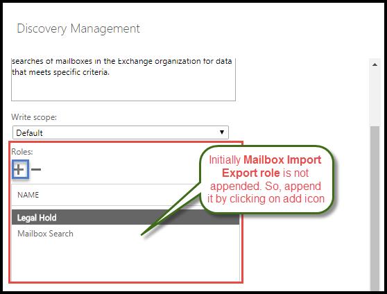 add Mailbox Import Export