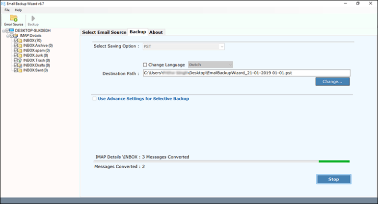 transfer webmail to outlook