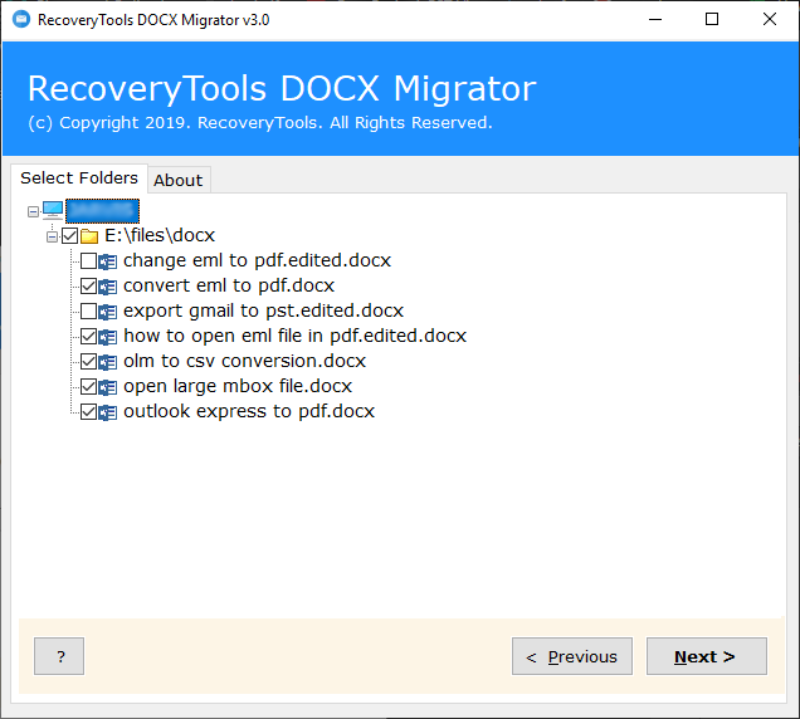 choose required DOCX files to convert docx to rtf