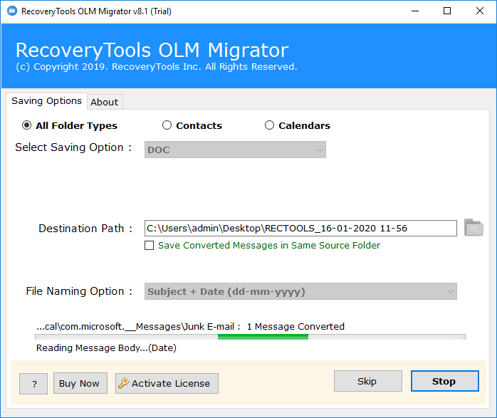 Convert OLM to Word
