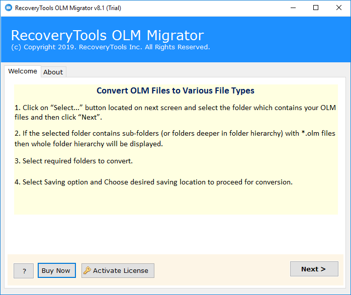 Convert OLM to Word DOC