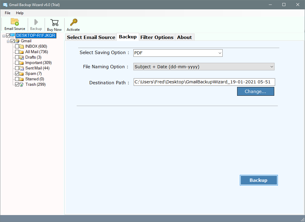 setup gmail to pdf on windows