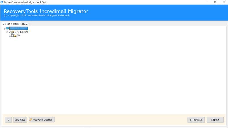select folder to chose incredimail data files