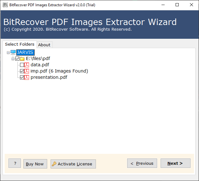 choose PDF files