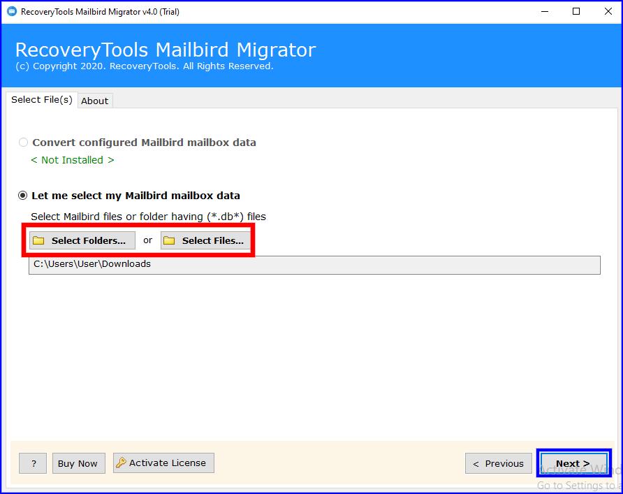 add mailbox to export mailbird to thunderbird