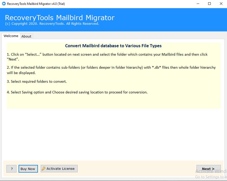 Mailbird to Thunderbird migrator