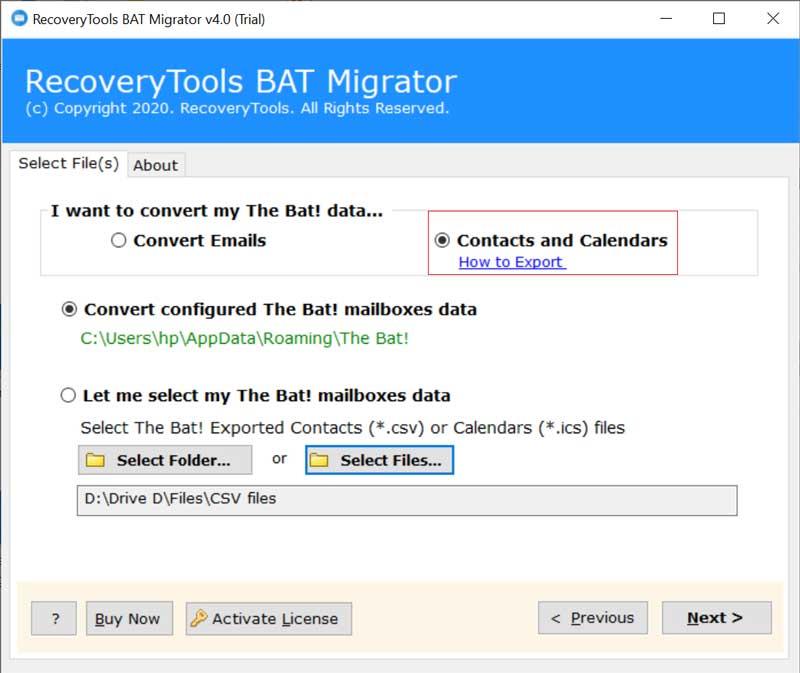 Manage The Bat! TB CSV
