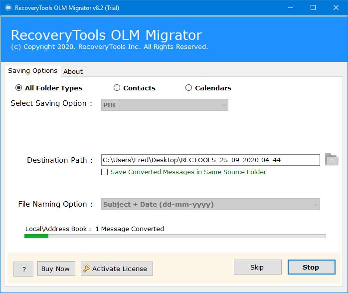 olm to pdf converter free