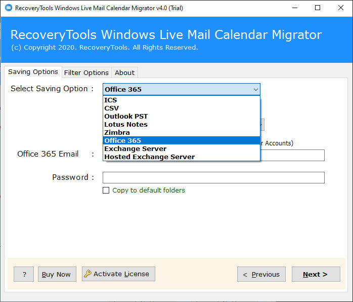 How to Export Windows Live Mail Calendar to Office 365