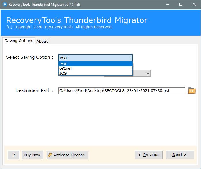 thunderbird export address book vcf