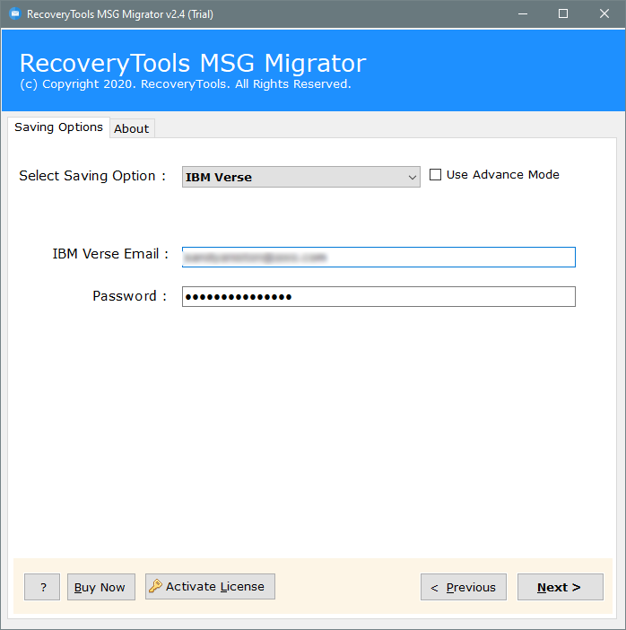 migrate msg to IBM verse
