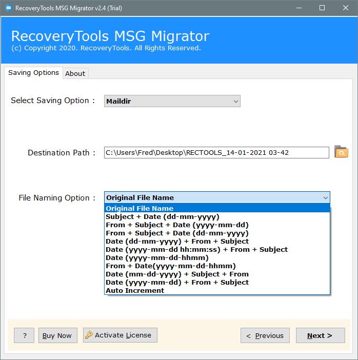 batch convert MSG to maildir