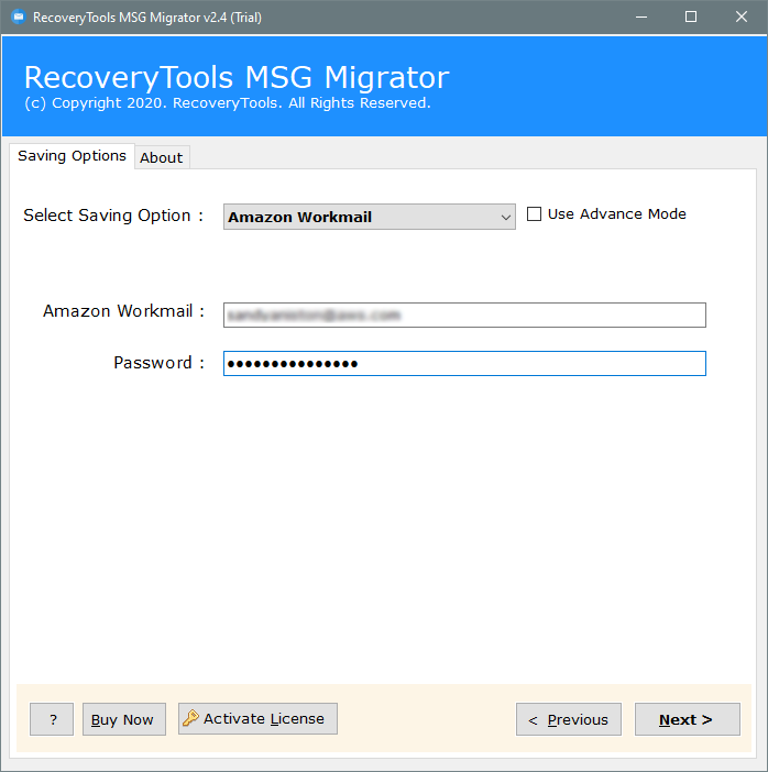 import MSG file to amazon workmail