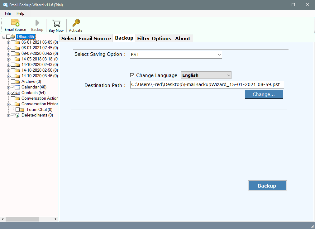 cpanel email backup & restore