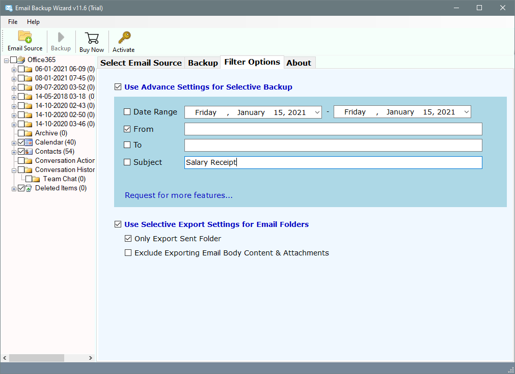 cpanel backup email filters