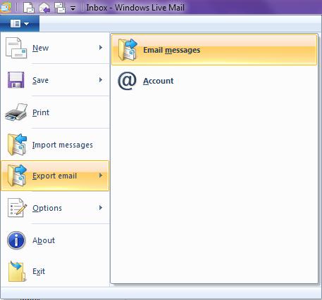 backup windows live mail to external hard drive