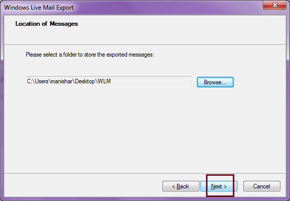 how to backup windows live emails to external hard drive