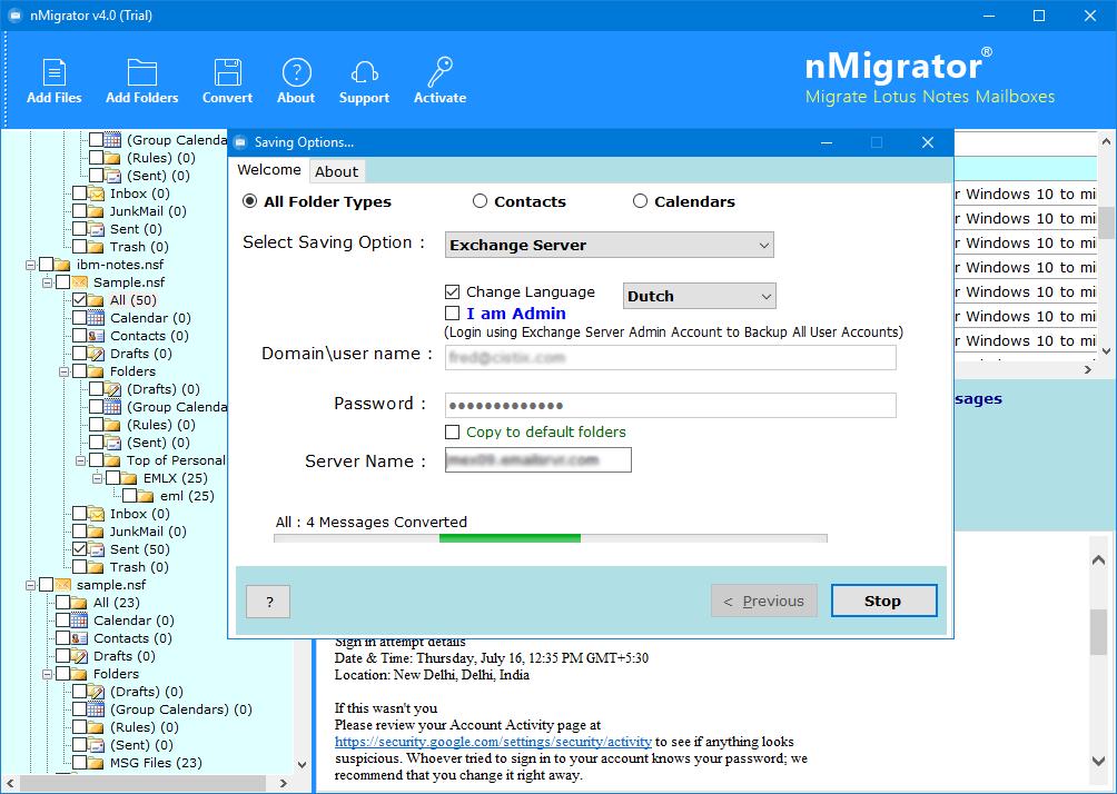 migrationwiz lotus notes to exchange