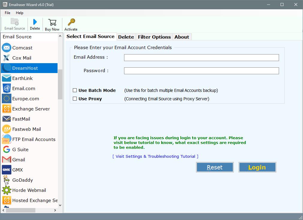 dreamhost delete mails